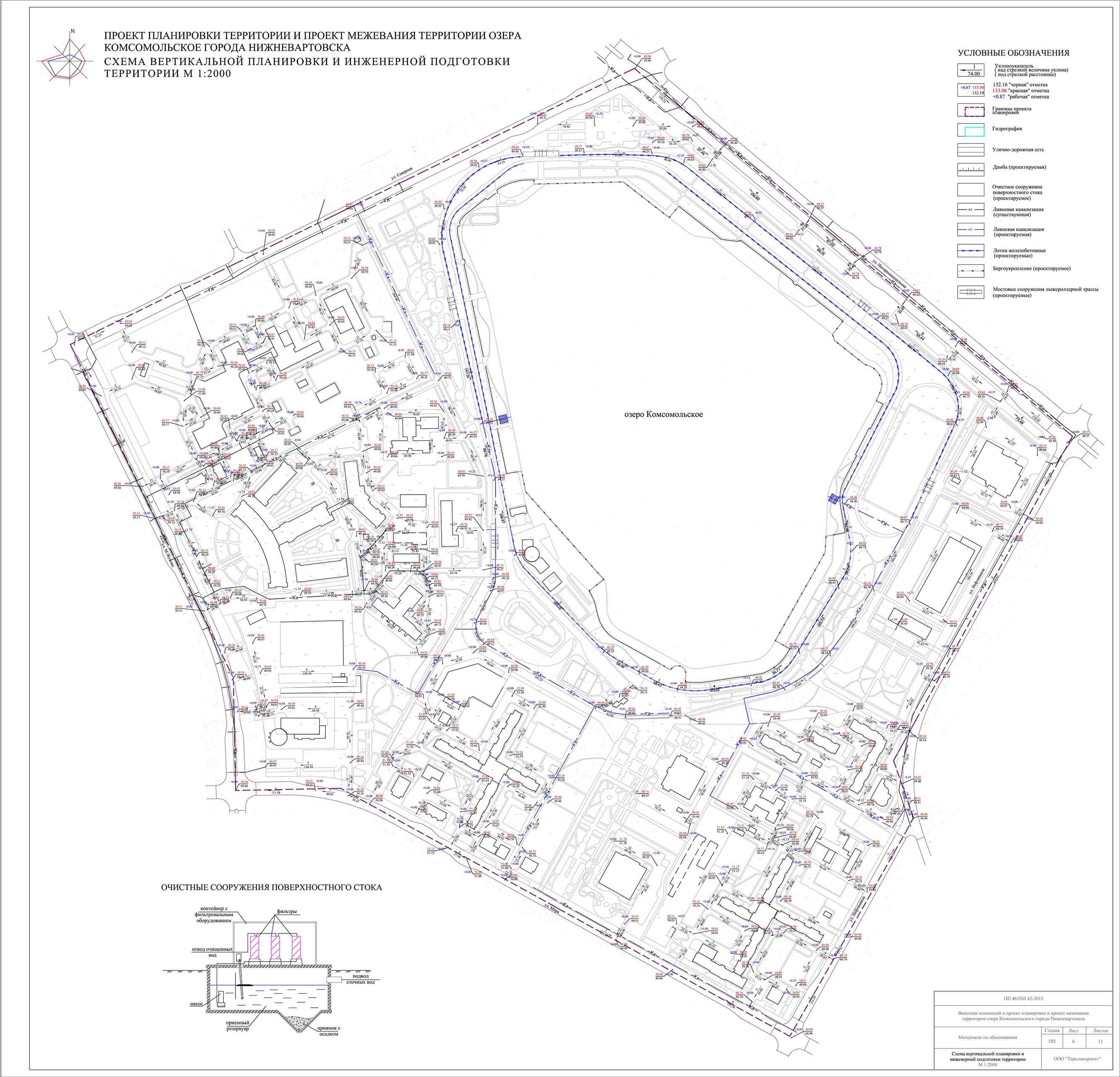 схема инженерной подготовки территории
